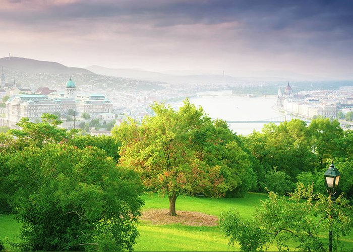 Budapest Greeting Card featuring the photograph Budapest Hungary by Peter Horvath