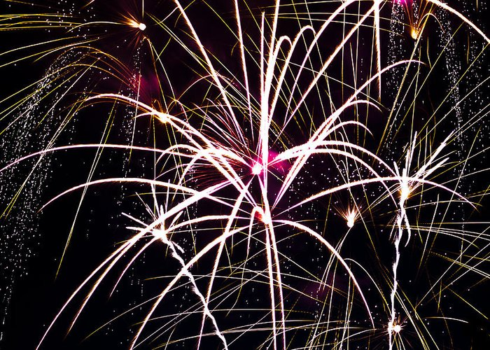 Fireworks Greeting Card featuring the photograph 2011 Fireworks by Robert Torkomian