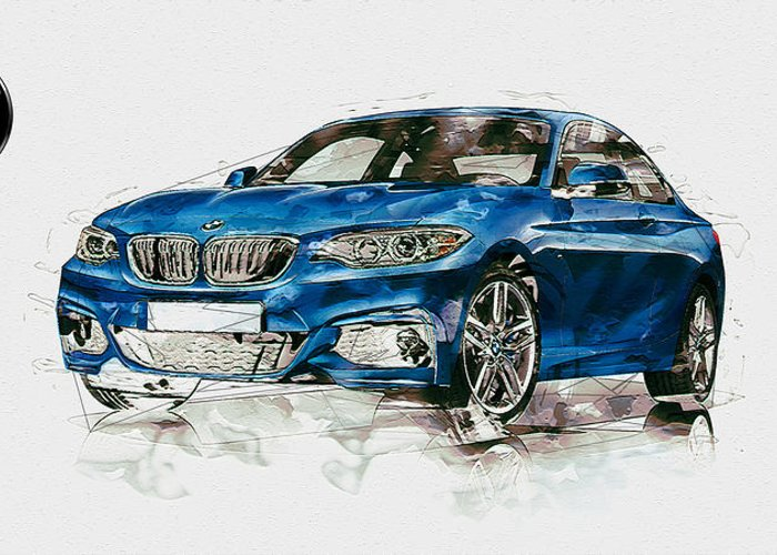 Wheels Of Fortune By Serge Averbukh Greeting Card featuring the photograph 2014 B M W 2 Series Coupe With 3d Badge by Serge Averbukh