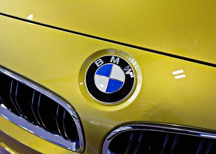 Bmw Greeting Card featuring the photograph 2015 Bmw M4 Hood by Aaron Berg