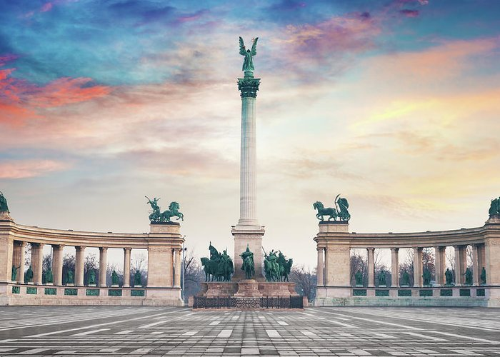 Arch Greeting Card featuring the photograph Budapest Hungary by Peter Horvath