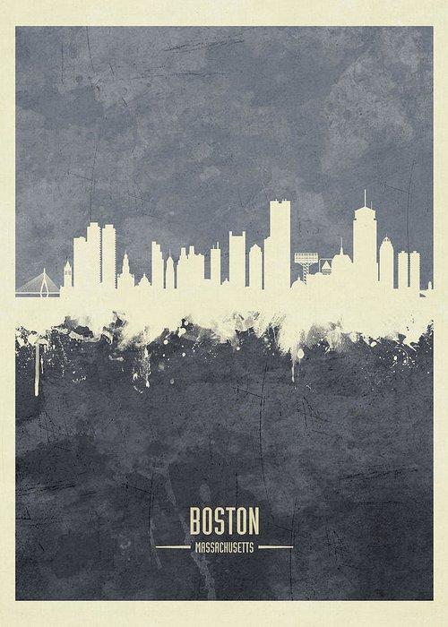 Boston Skyline Greeting Cards