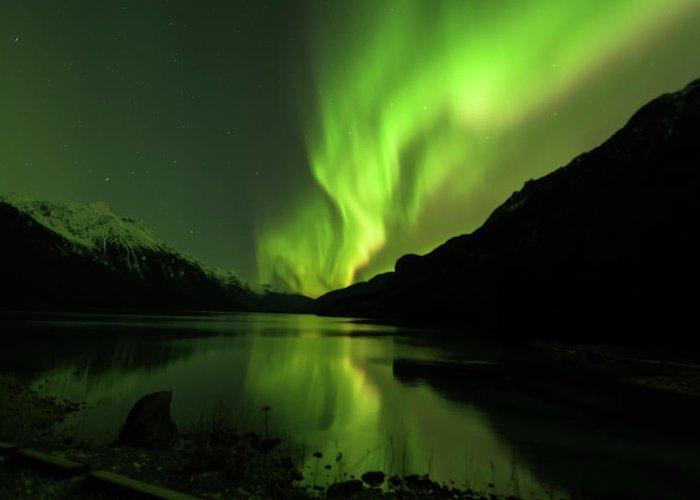 Alaska 2015 Greeting Card featuring the photograph Aurora Borealis by Donald Trimble