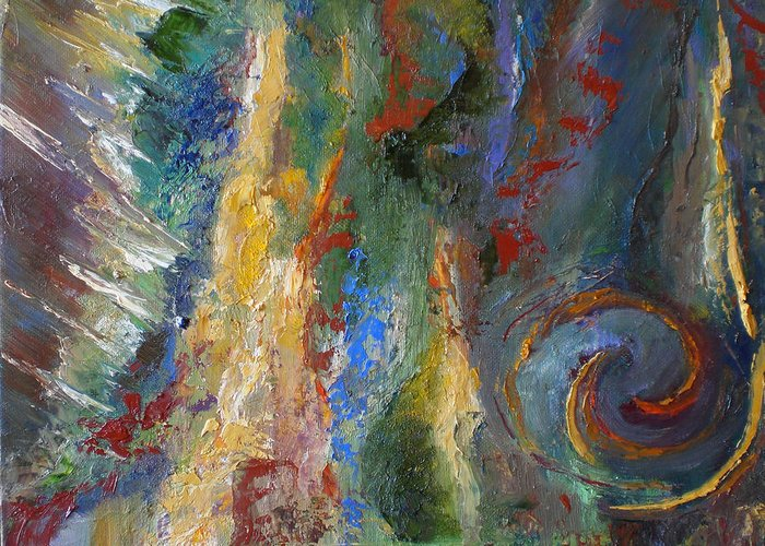 Abstract. Expressionism Greeting Card featuring the painting 23 by Lou Ewers