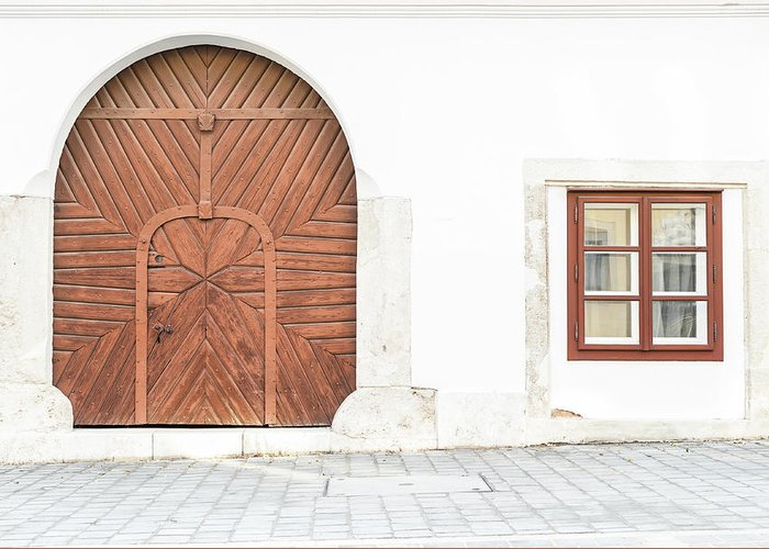 Door Greeting Card featuring the photograph Budapest Hungary by Peter Horvath
