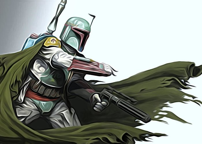 Star Wars Greeting Card featuring the digital art Star Wars The Trilogy Poster by Larry Jones
