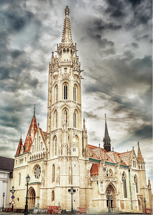 Architecture Greeting Card featuring the photograph Budapest Hungary by Peter Horvath