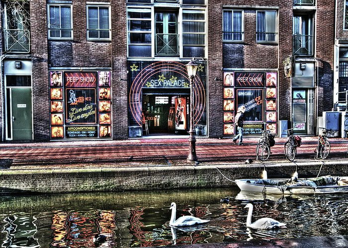 Amsterdam Greeting Card featuring the digital art 270 Amsterdam by Mark Brooks