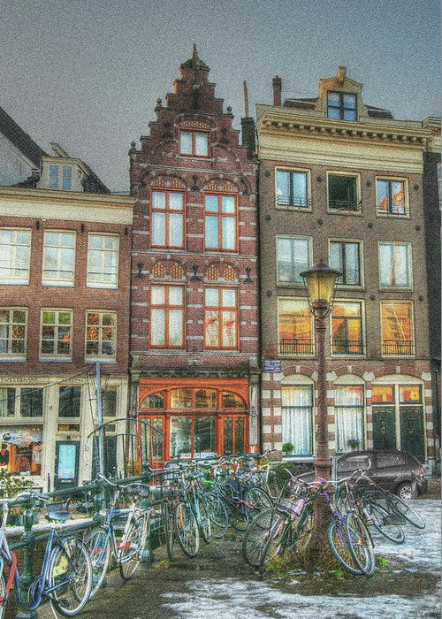 Amsterdam Greeting Card featuring the digital art 275 Amsterdam by Mark Brooks