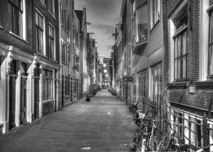 Amsterdam Greeting Card featuring the digital art 281 Amsterdam by Mark Brooks