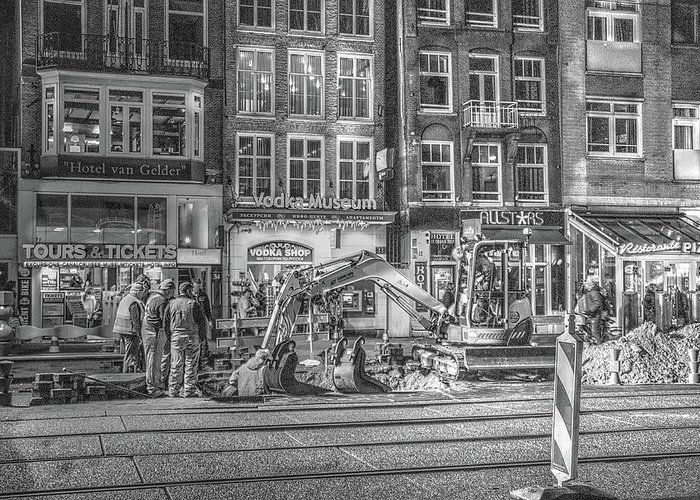 Amsterdam Greeting Card featuring the digital art 286 Amsterdam by Mark Brooks
