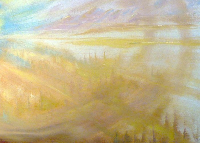 Greeting Card featuring the painting Earth Light Series by Len Sodenkamp