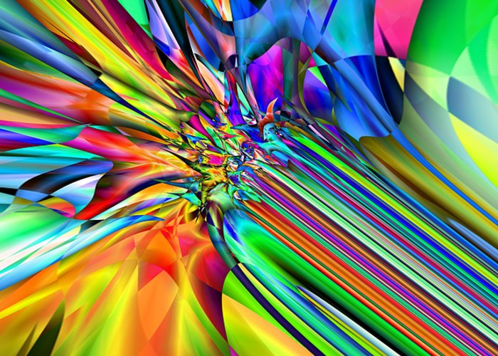 Abstract Greeting Card featuring the digital art 2x1 Abstract 308 by Rolf Bertram