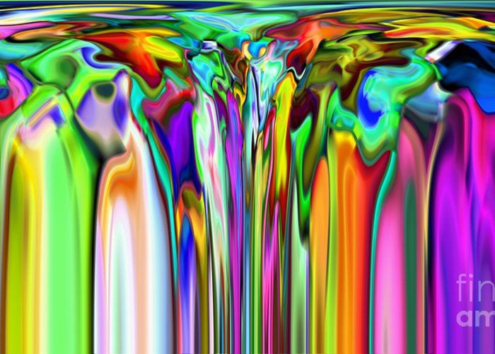 Abstract Greeting Card featuring the digital art 2x1 Abstract 316 by Rolf Bertram