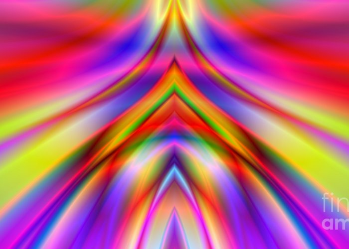 Abstract Greeting Card featuring the digital art 2x1 Abstract 337 by Rolf Bertram