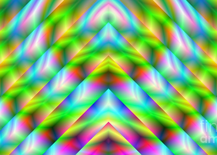 Abstract Greeting Card featuring the digital art 2x1 Abstract 341 by Rolf Bertram