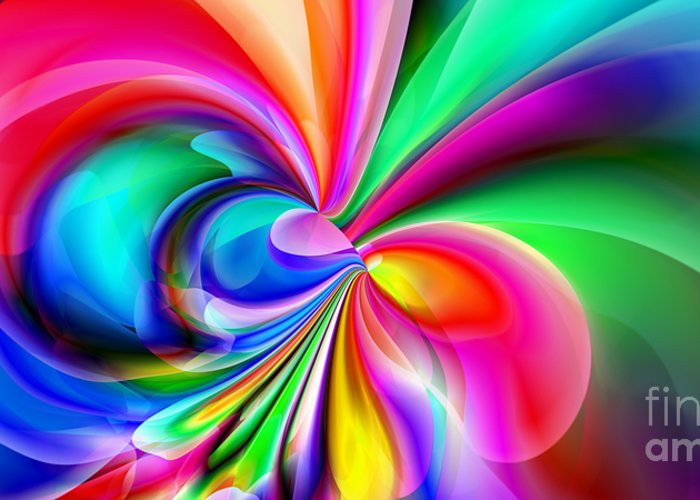 Abstract Greeting Card featuring the digital art 2x1 Abstract 416 by Rolf Bertram