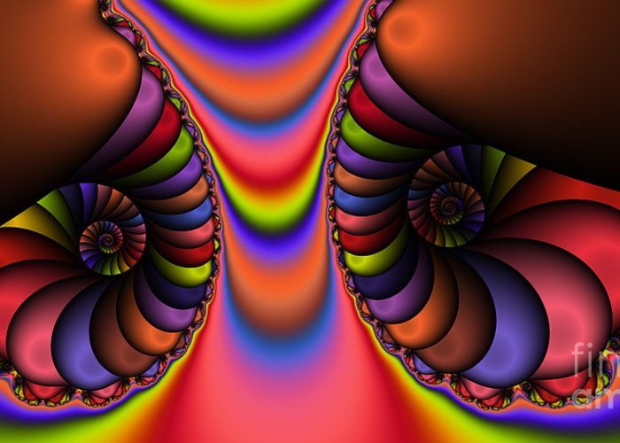 Abstract Greeting Card featuring the digital art 2x1 Abstract 439 by Rolf Bertram
