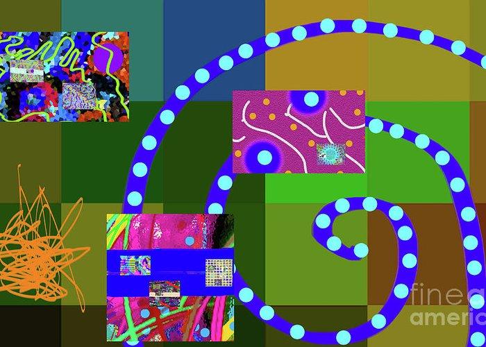 Walter Paul Bebirian Greeting Card featuring the digital art 3-17-2015abcdefghijklmn by Walter Paul Bebirian