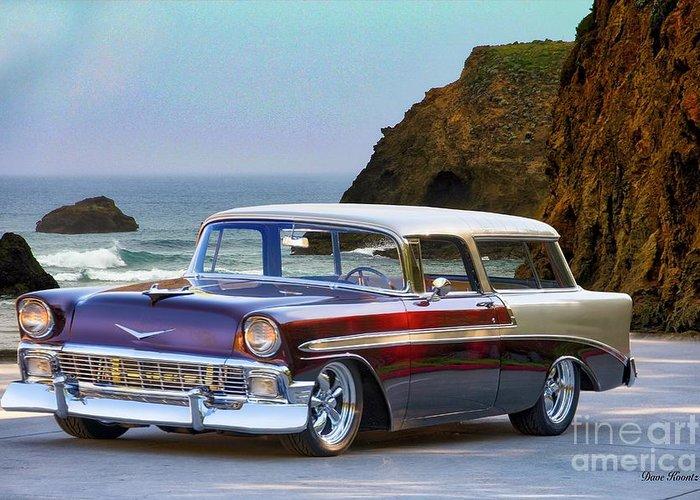 1956 Chevrolet Nomad Wagon Greeting Card