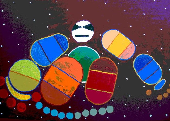Greeting Card featuring the painting Abstract 3 by Jason Gauvreau