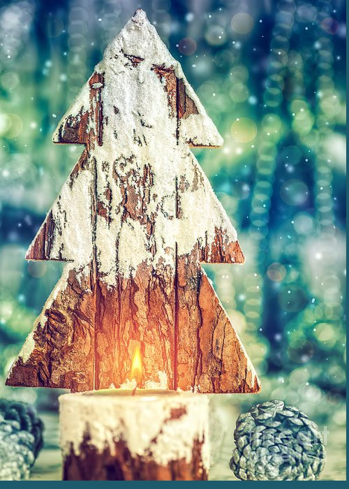 Advent Greeting Card featuring the photograph Beautiful Christmas still life by Anna Om