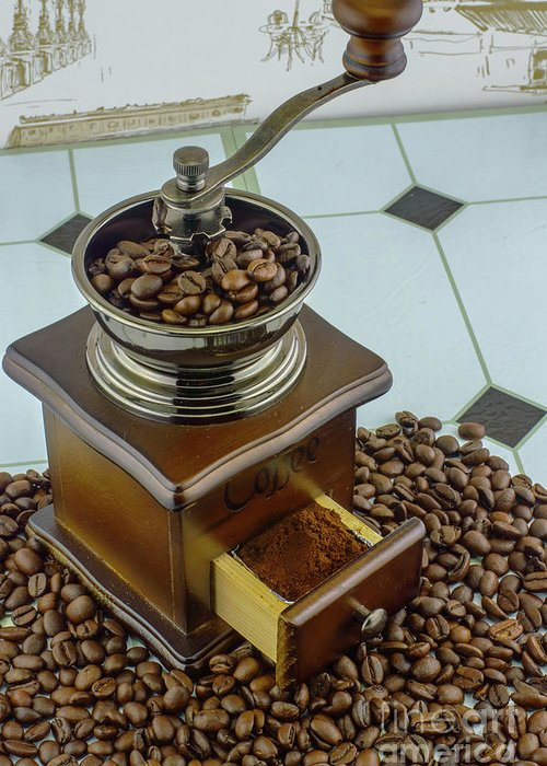 Bean Greeting Card featuring the photograph Daily Grind Coffee by F Helm