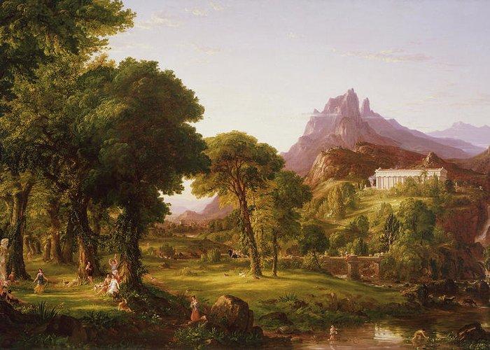 Mythical Landscape Greeting Cards