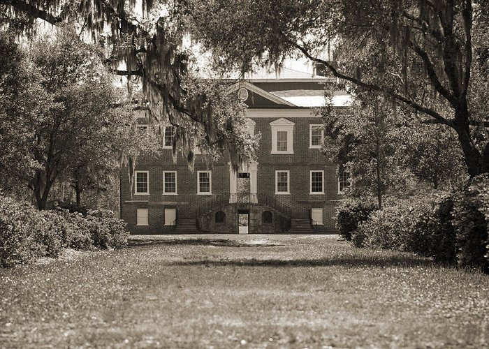 Historic Greeting Card featuring the photograph Historic Drayton Hall In Charleston South Carolina by Dustin K Ryan