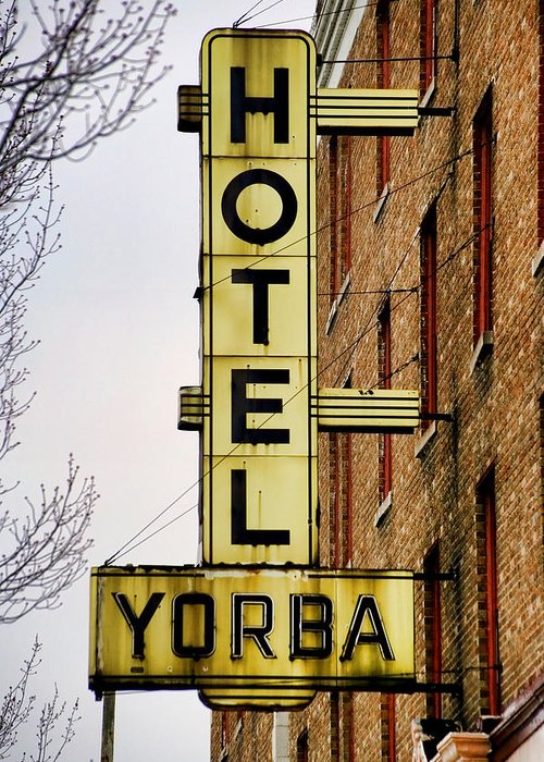 Hotel Yorba Greeting Card featuring the photograph Hotel Yorba by Gordon Dean II