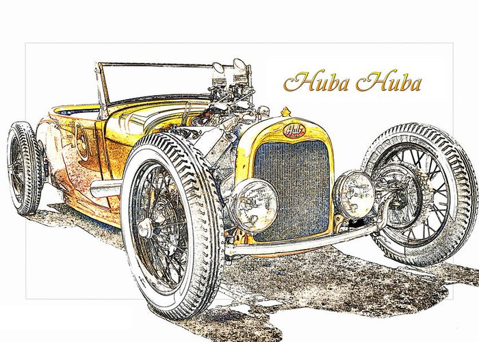 Car Greeting Card featuring the photograph Huba Huba by Michael Gass