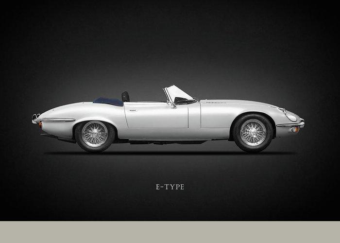 Jaguar E Type Greeting Card featuring the photograph Jaguar E-type by Mark Rogan