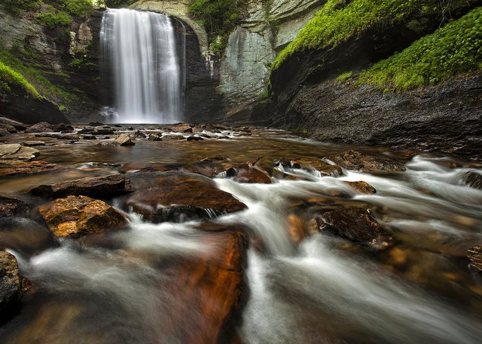Waterfall Greeting Card featuring the photograph Looking Glass Falls by Andrew Soundarajan