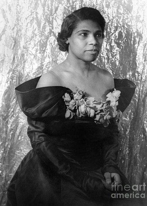 1940 Greeting Card featuring the photograph Marian Anderson (1897-1993) by Granger