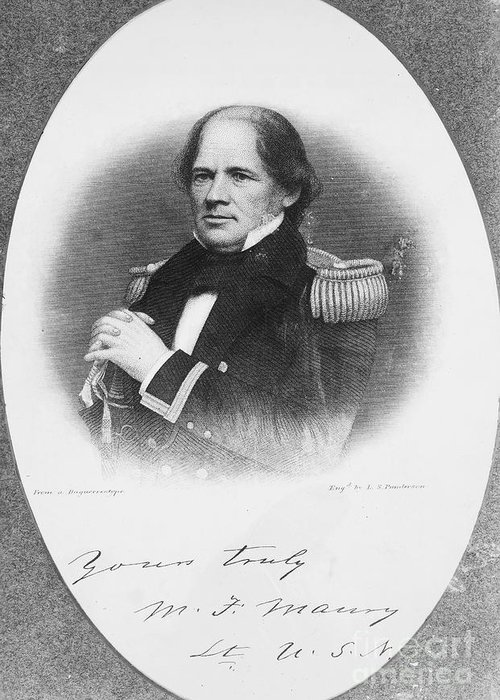 1855 Greeting Card featuring the photograph Matthew Fontaine Maury by Granger