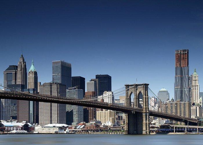 Ny Greeting Card featuring the photograph Nyc Brooklyn Bridge by Nina Papiorek