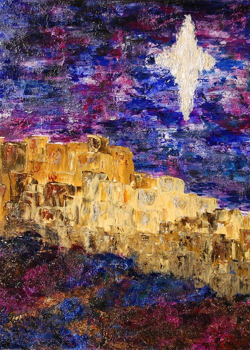 Bethlehem Greeting Card featuring the painting Oh Bethlehem by Deborah Gall