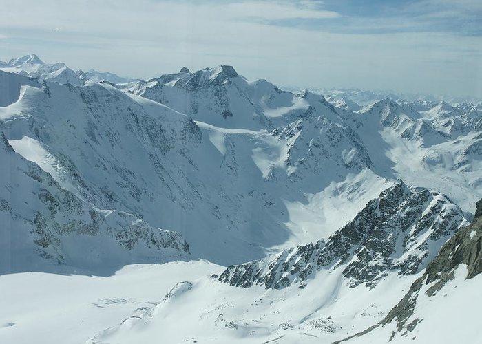 Pitztal Glacier Greeting Card featuring the photograph Pitztal Glacier by Olaf Christian