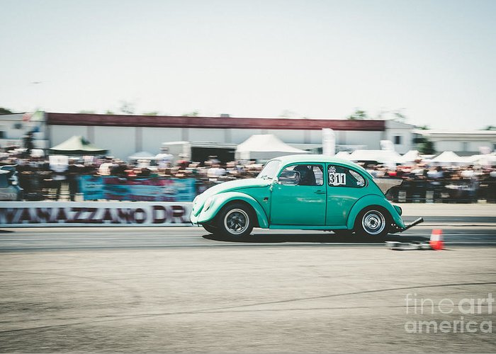 Quarter Mile Greeting Card featuring the photograph Quarter Mile by Wonderland Photography
