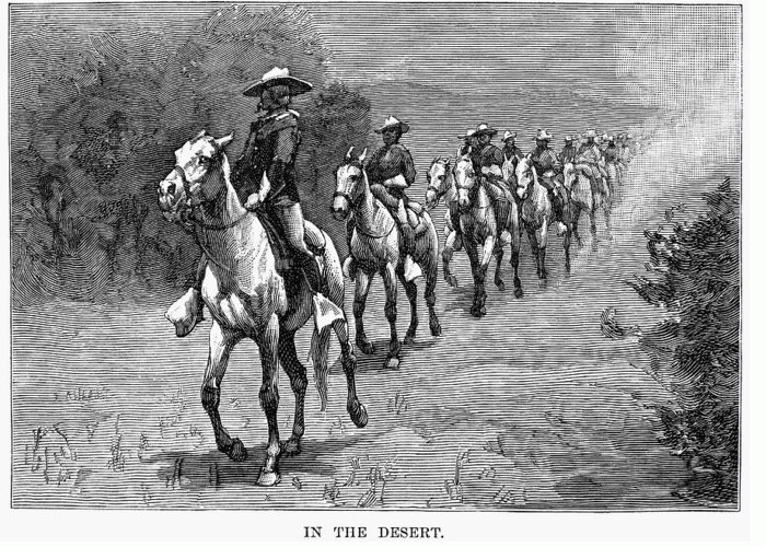 10th Cavalry Greeting Card featuring the photograph Remington: 10th Cavalry by Granger