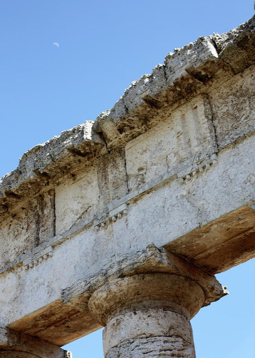 Greeting Card featuring the photograph Segesta Greek Temple In Sicily, Italy by Paolo Modena