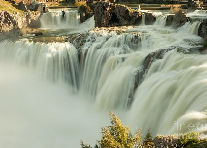 Waterfall Greeting Card featuring the photograph Shoshone Falls by Dennis Hammer
