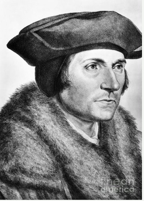 16th Century Greeting Card featuring the photograph Sir Thomas More (1478-1535) by Granger