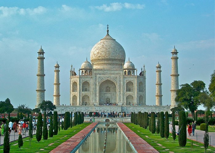 Architecture Greeting Card featuring the photograph Taj Mahal by Dorota Nowak