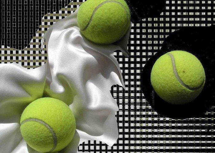 Tennis Digital Art Greeting Cards