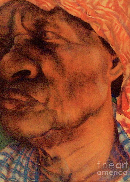 The Gaze Of Mother Witt Iv Greeting Card featuring the pastel The Gaze Of Mother Witt by Curtis James