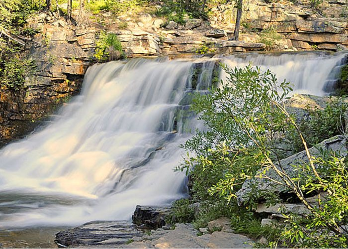 River Greeting Card featuring the photograph Upper Provo River Falls by Dennis Hammer