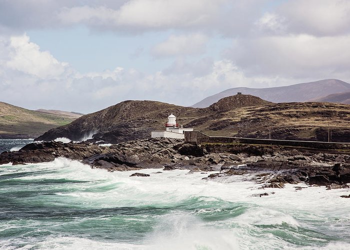 Valentia Island Lighthouse Greeting Card featuring the photograph Valentia Island Lighthouse by Scott Pellegrin