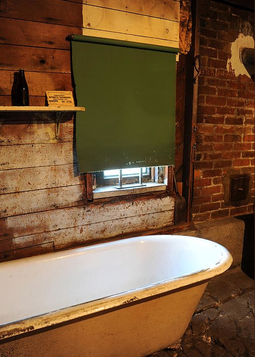 Bath Tub Greeting Card featuring the photograph West End Basement Brewing by Jason Evans