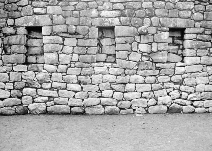 Machu Picchu Greeting Card featuring the photograph 3 Windows by Marcus Best